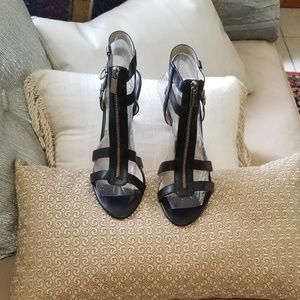 Michael Michael Kors black leather sandals